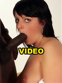 Stocking clad chick Adel hooks up with a black buddy and got her hairy pussy and booty stretched live