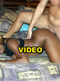 Black webcam model Coco Pink invites a white guy over and lets him taste her furpie
